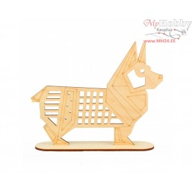 """Plywood form """"Buratini"""" in Origami style on a support, Article: DZ80020"""