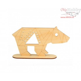 """Plywood form """"Buratini"""" in Origami style on a support, Article: DZ80016"""