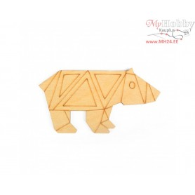 """Plywood form """"Buratini"""" in Origami style, Article: DZ80007"""