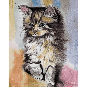 Paint by numbers ' Kitten' Size 30x40cm DIY art. by Tsvetnoy - ME1066e