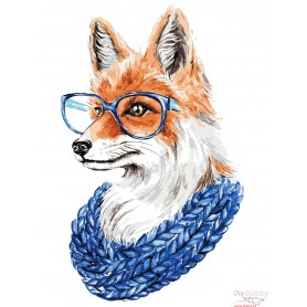 Paint by numbers ' Fox with Glasses' Size 30x40cm DIY art. by Tsvetnoy - ME1109e