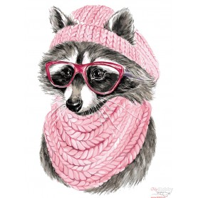 Paint by numbers ' Raccoon with Glasses' Size 30x40cm DIY art. by Tsvetnoy - ME1108e