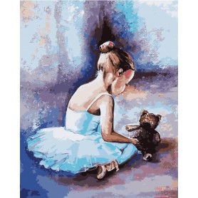 Paint by numbers ' Ballerina. The first steps' Size 40x50cm DIY art. by Tsvetnoy - MG2056e