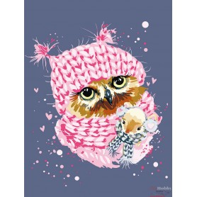 Paint by numbers ' Winter Owl' Size 30x40cm DIY art. by Tsvetnoy - ME1118e