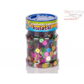 Sequin flowers confetti - color mix 100g