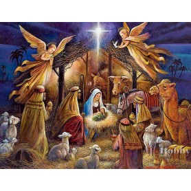 Paint by numbers ' Nativity Scene' Size 40x50cm DIY art. by Tsvetnoy - MG2154e