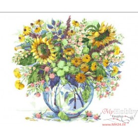 Paint by numbers ' Sunflowers in a Vase' Size 40x50cm DIY art. by Tsvetnoy - MG2062e