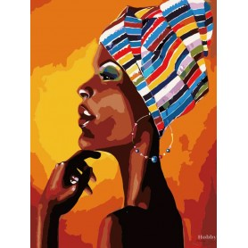 Paint by numbers ' Portrait of an African' Size 40x50cm DIY art. by Tsvetnoy - MG2112e