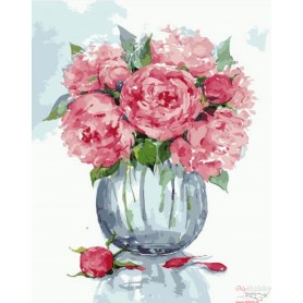Paint by numbers ' Gentle peonies' Size 40x50cm DIY art. by Tsvetnoy - MG2065e