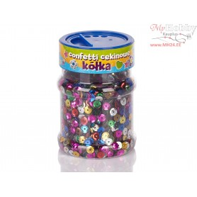 Sequin circles confetti - color mix 100g