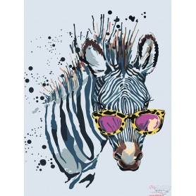 Paint by numbers ' Zebra with Glasses' Size 30x40cm DIY art. by Tsvetnoy - ME1114e