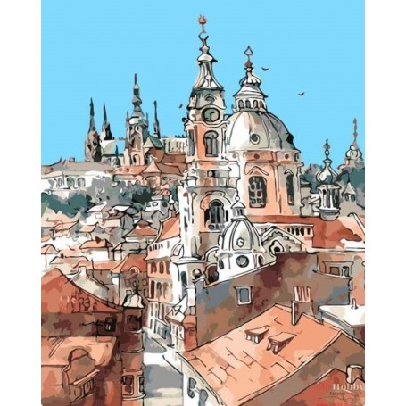 Paint by numbers ' Towers of the Old Town' Size 40x50cm DIY art. by Tsvetnoy - MG2096e