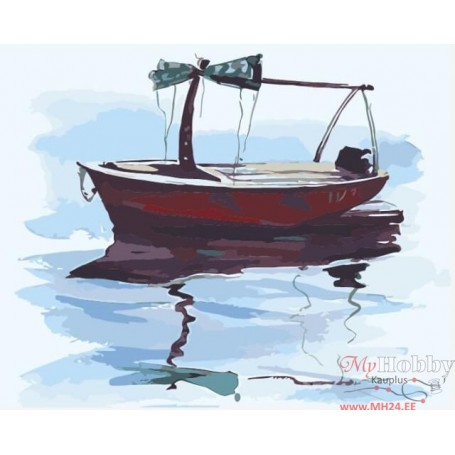 Paint by numbers ' Boat in Calm Waters' Size 40x50cm DIY art. by Tsvetnoy - MG2080e
