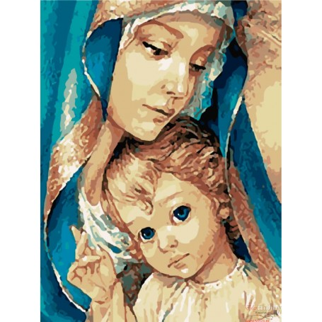 Paint by numbers ' Holy Mother' Size 40x50cm DIY art. by Tsvetnoy - MG2148e