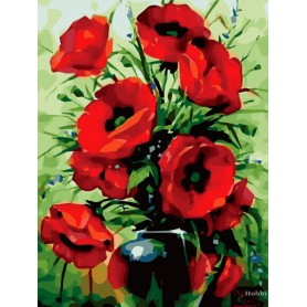 Paint by numbers ' Poppies Bouquet' Size 40x50cm DIY art. by Tsvetnoy - MG2142e