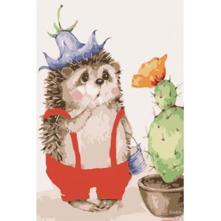 Paint by numbers ' Surprised Hedgehog' Size 20x30cm DIY art. by Tsvetnoy - MC1074e