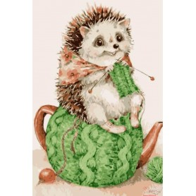 Paint by numbers ' Hedgehog is cozy' Size 20x30cm DIY art. by Tsvetnoy - MC1076e