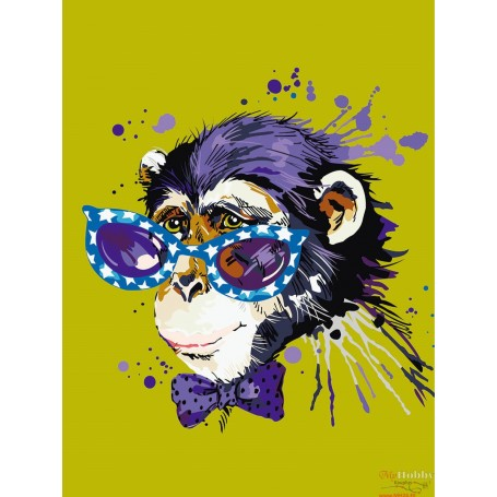 Paint by numbers ' Stylish Monkey' Size 30x40cm DIY art. by Tsvetnoy - ME1119e