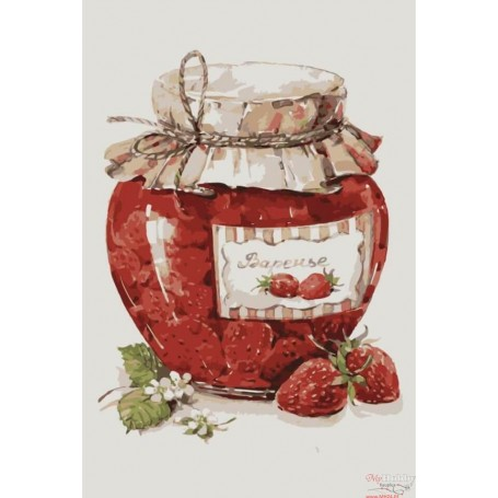 Paint by numbers ' Strawberry Jam' Size 20x30cm DIY art. by Tsvetnoy - MC1068e