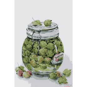Paint by numbers ' Gooseberry Jam' Size 20x30cm DIY art. by Tsvetnoy - MC1069e