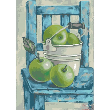 Paint by numbers ' Still Life with Green Apples' Size 40x50cm DIY art. by Tsvetnoy - MG2105e