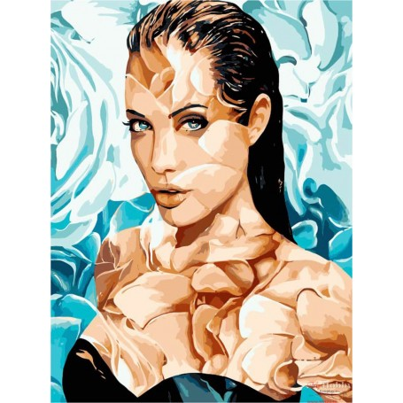 Paint by numbers ' Angelina' Size 40x50cm DIY art. by Tsvetnoy - MG2107e