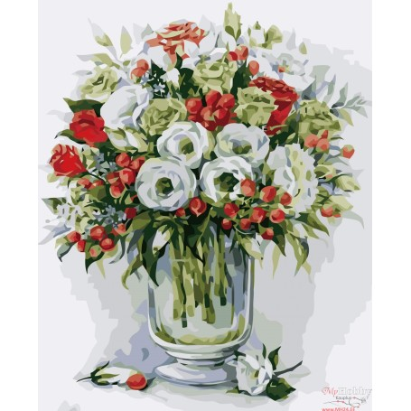 Paint by numbers ' Bouquet with red berries' Size 40x50cm DIY art. by Tsvetnoy - MG2103e