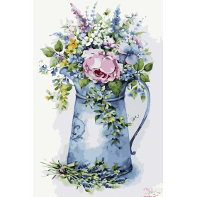 Paint by numbers ' Romantic bouquet in a watering can' Size 40x50cm DIY art. by Tsvetnoy - MG2104e