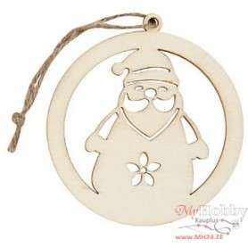 Plywood form - Christmas pendant D 8cm thickness 3 mm