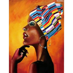Diamond embroidery and mosaic paintings ' Portrait of an African' Size 50x65cm DIY art. by Tsvetnoy - LMC013e