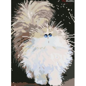 Diamond embroidery and mosaic paintings ' Cute Fluffy Cat' Size 30x40cm DIY art. by Tsvetnoy - LE085e
