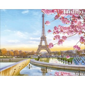 Diamond embroidery and mosaic paintings ' Paris in Blossom' Size 40x50cm DIY art. by Tsvetnoy - LG194e