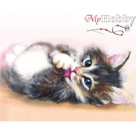 Diamond embroidery and mosaic paintings ' Cute kitten' Size 40x50cm DIY art. by Tsvetnoy - LG011e