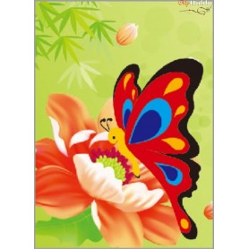 Diamond embroidery and mosaic paintings ' Butterfly on a Flower' Size 17х22cm DIY art. by Tsvetnoy - X185e