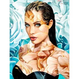 Diamond embroidery and mosaic paintings ' Angelina' Size 50x65cm DIY art. by Tsvetnoy - LMC014e