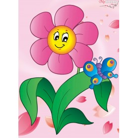 Diamond embroidery and mosaic paintings ' Flower with Butterfly' Size 17х22cm DIY art. by Tsvetnoy - X010e