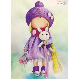 Diamond embroidery and mosaic paintings ' Betty Doll' Size 30x40cm DIY art. by Tsvetnoy - LE047e