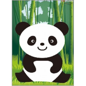 Diamond embroidery and mosaic paintings ' Happy Panda' Size 17х22cm DIY art. by Tsvetnoy - X102e