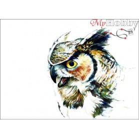 Diamond embroidery and mosaic paintings ' Great Horned Owl' Size 30x40cm DIY art. by Tsvetnoy - LE016e