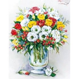 Diamond embroidery and mosaic paintings ' Bouquet with red berries' Size 40x50cm DIY art. by Tsvetnoy - LG148e