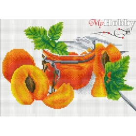 Diamond embroidery and mosaic paintings ' Apricot Jam' Size 30x40cm DIY art. by Tsvetnoy - LE055e