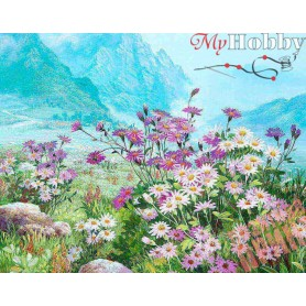 Diamond embroidery and mosaic paintings ' Spring Meadow' Size 40x50cm DIY art. by Tsvetnoy - LG182e