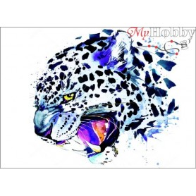 Diamond embroidery and mosaic paintings ' Snow Leopard' Size 30x40cm DIY art. by Tsvetnoy - LE017e