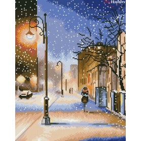 Diamond embroidery and mosaic paintings ' Evening snowstorm' Size 40x50cm DIY art. by Tsvetnoy - LG083e