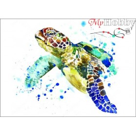Diamond embroidery and mosaic paintings ' Graceful Turtle' Size 30x40cm DIY art. by Tsvetnoy - LE015e