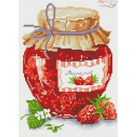 Diamond embroidery and mosaic paintings ' Strawberry Jam' Size 30x40cm DIY art. by Tsvetnoy - LE053e
