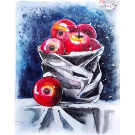 Diamond embroidery and mosaic paintings ' Still Life with Apples' Size 40x50cm DIY art. by Tsvetnoy - LG129e