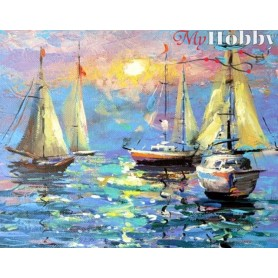 Diamond embroidery and mosaic paintings ' Quiet Harbour' Size 40x50cm DIY art. by Tsvetnoy - LG059e