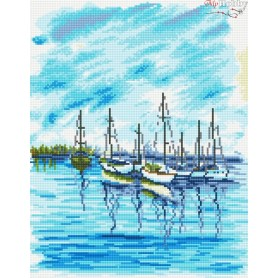 Diamond embroidery and mosaic paintings ' Seascape' Size 40x50cm DIY art. by Tsvetnoy - LG045e