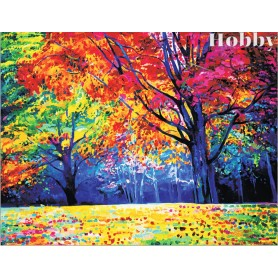 Diamond embroidery and mosaic paintings ' Autumn Forest' Size 40x50cm DIY art. by Tsvetnoy - LG229e